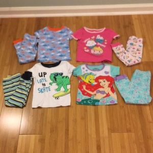 Lot of 4 PJ's size 3T, short sleeve and long pants